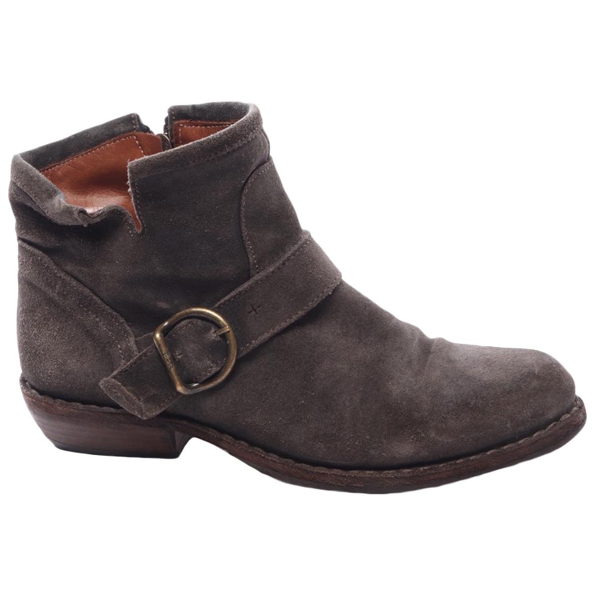 Fiorentini+baker - Boots   pour femme en cuir - gris