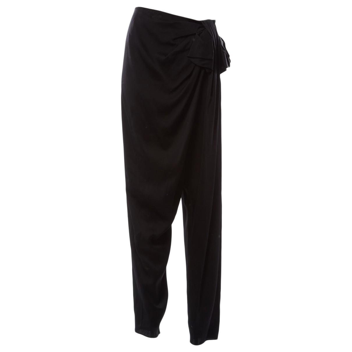Lanvin \N Black Trousers for Women 40 FR