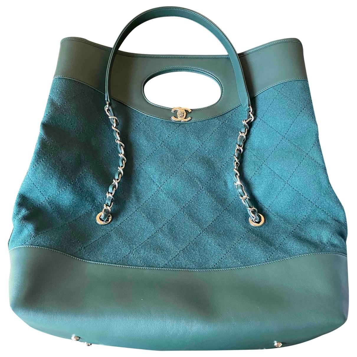 Chanel - Sac a main 31 pour femme en cuir - vert