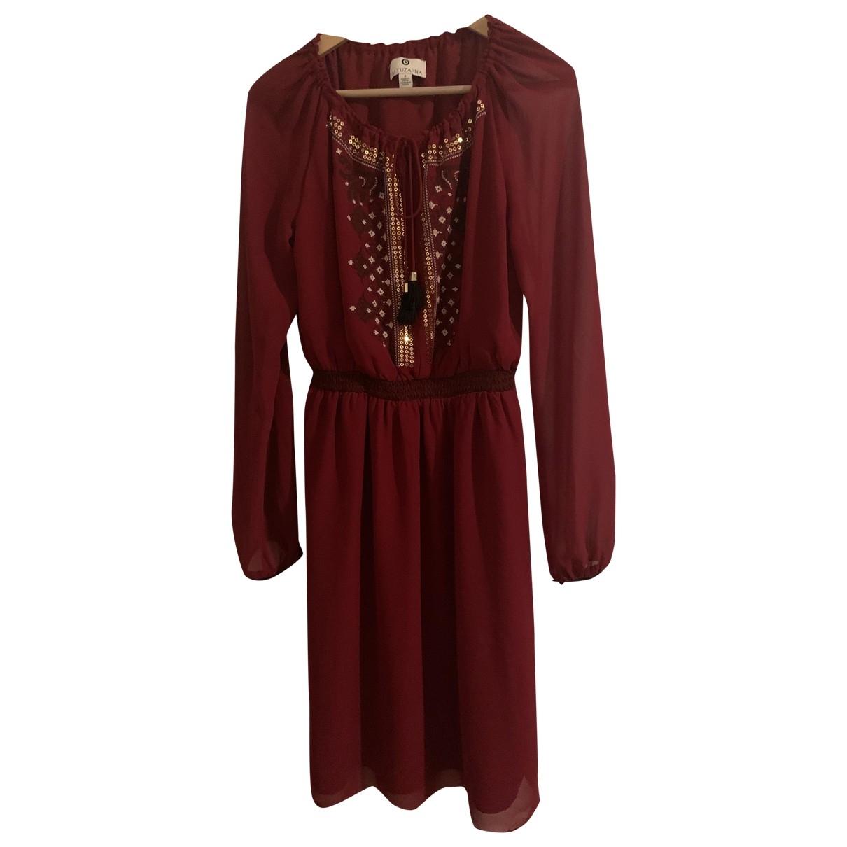 Altuzarra For Target \N Kleid in  Bordeauxrot Polyester