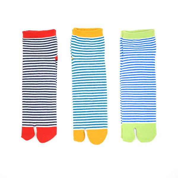 Men Women Breathable Cotton Boat Socks Stripe Toe Socks