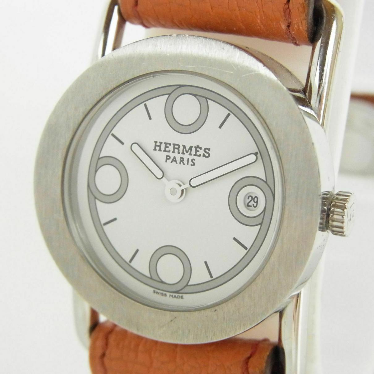 Hermes - Montre   pour femme en acier