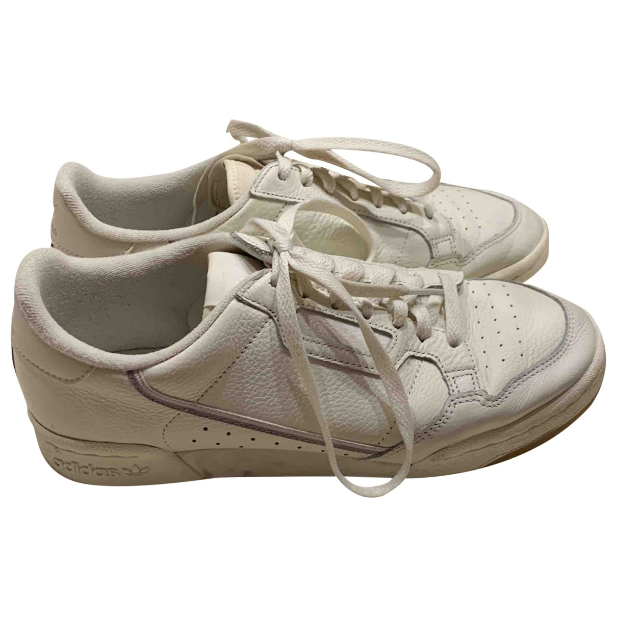 Adidas - Baskets Continental 80 pour femme en cuir - blanc