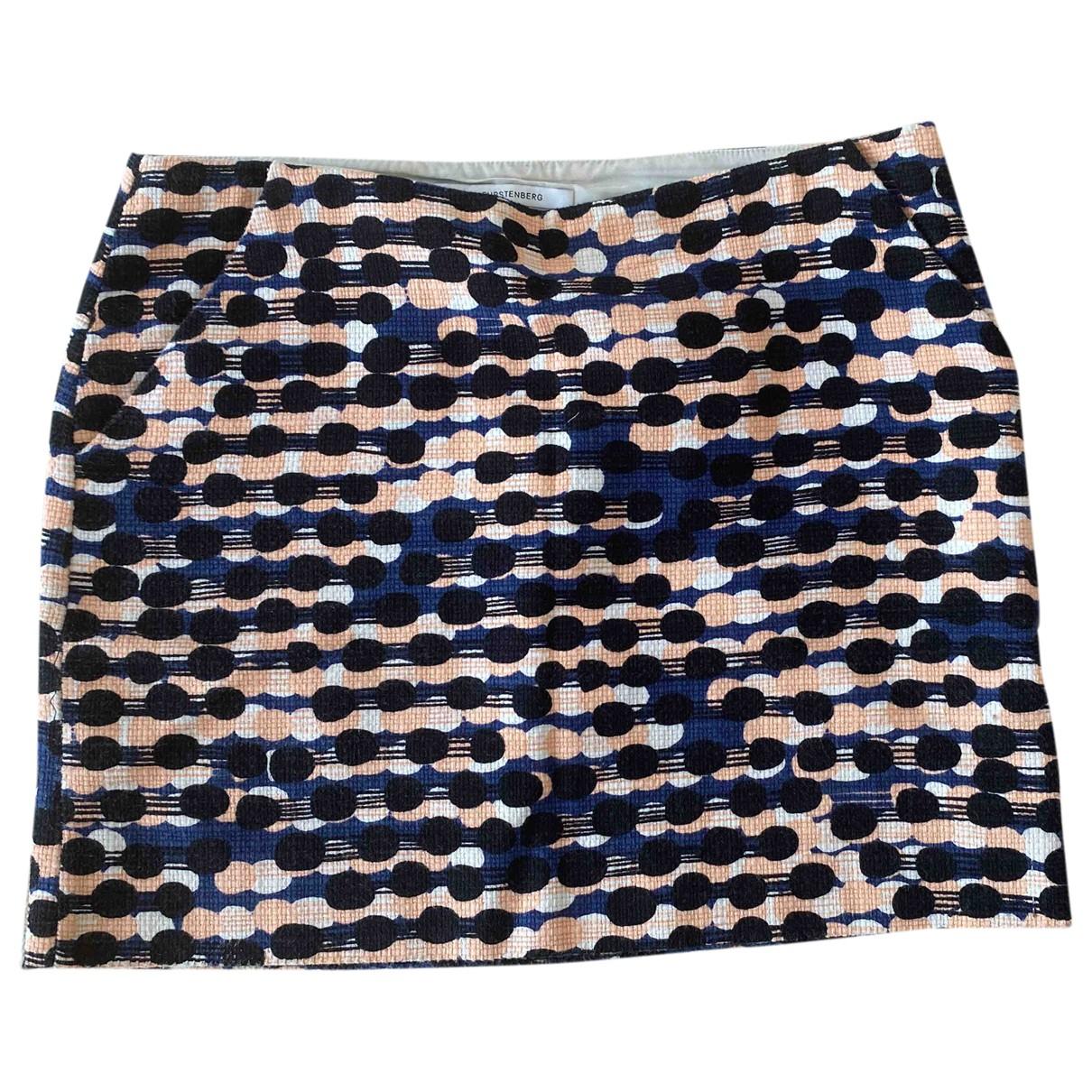 Diane Von Furstenberg - Jupe   pour femme en coton - bleu