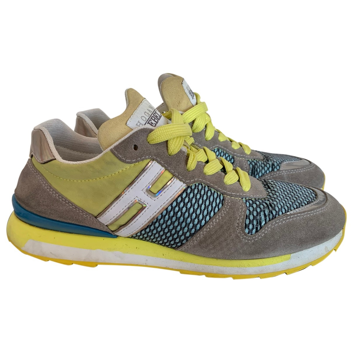 Hogan \N Yellow Suede Trainers for Women 38 IT