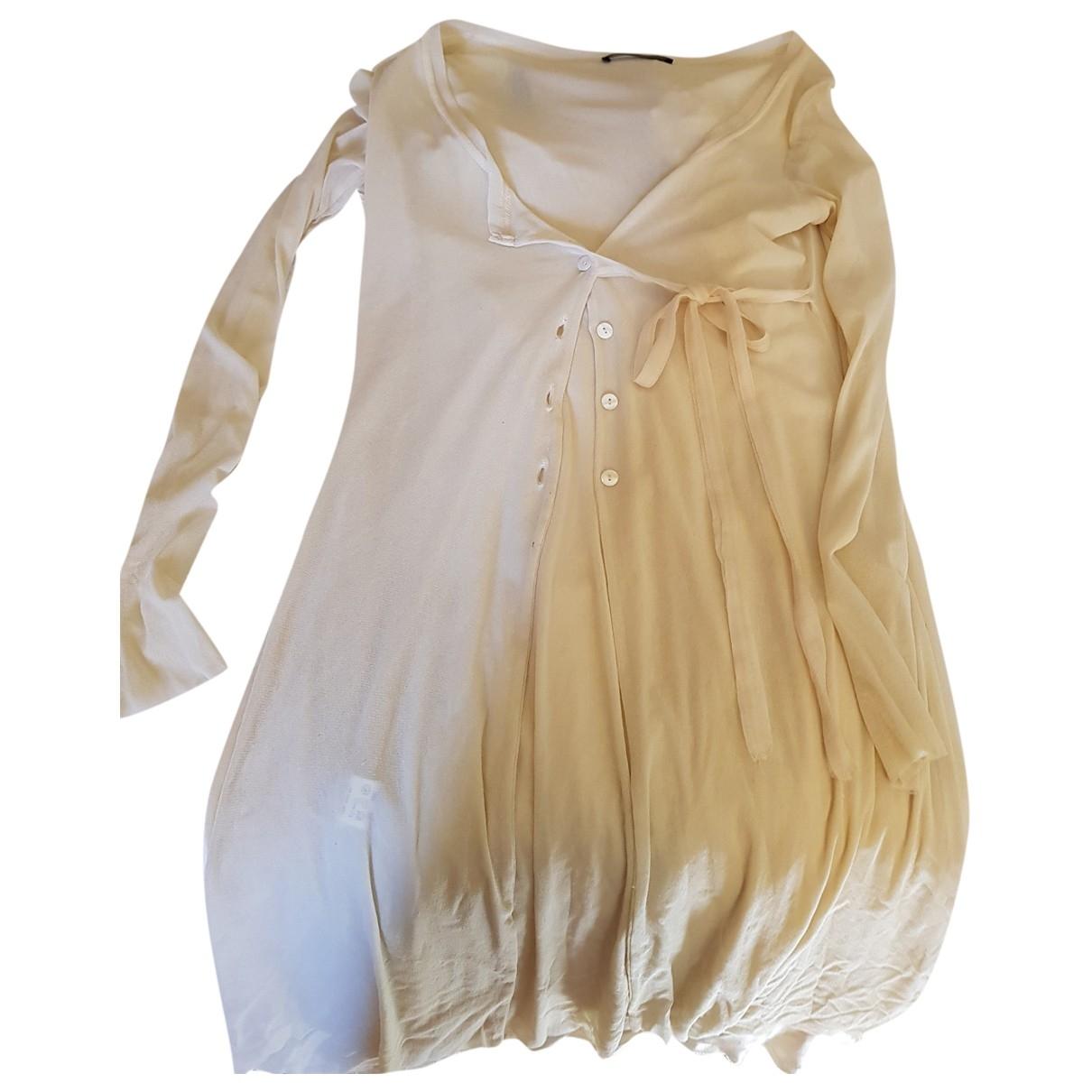 Twin Set - Robe   pour femme en coton - elasthane - blanc
