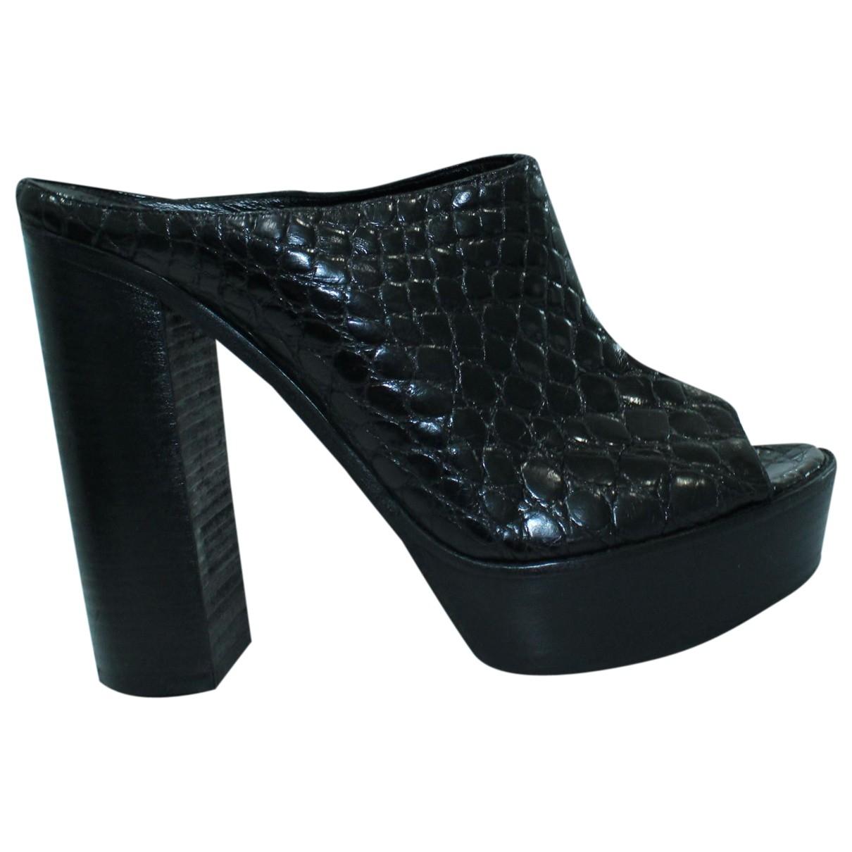 Chloé \N Black Leather Heels for Women 40 EU