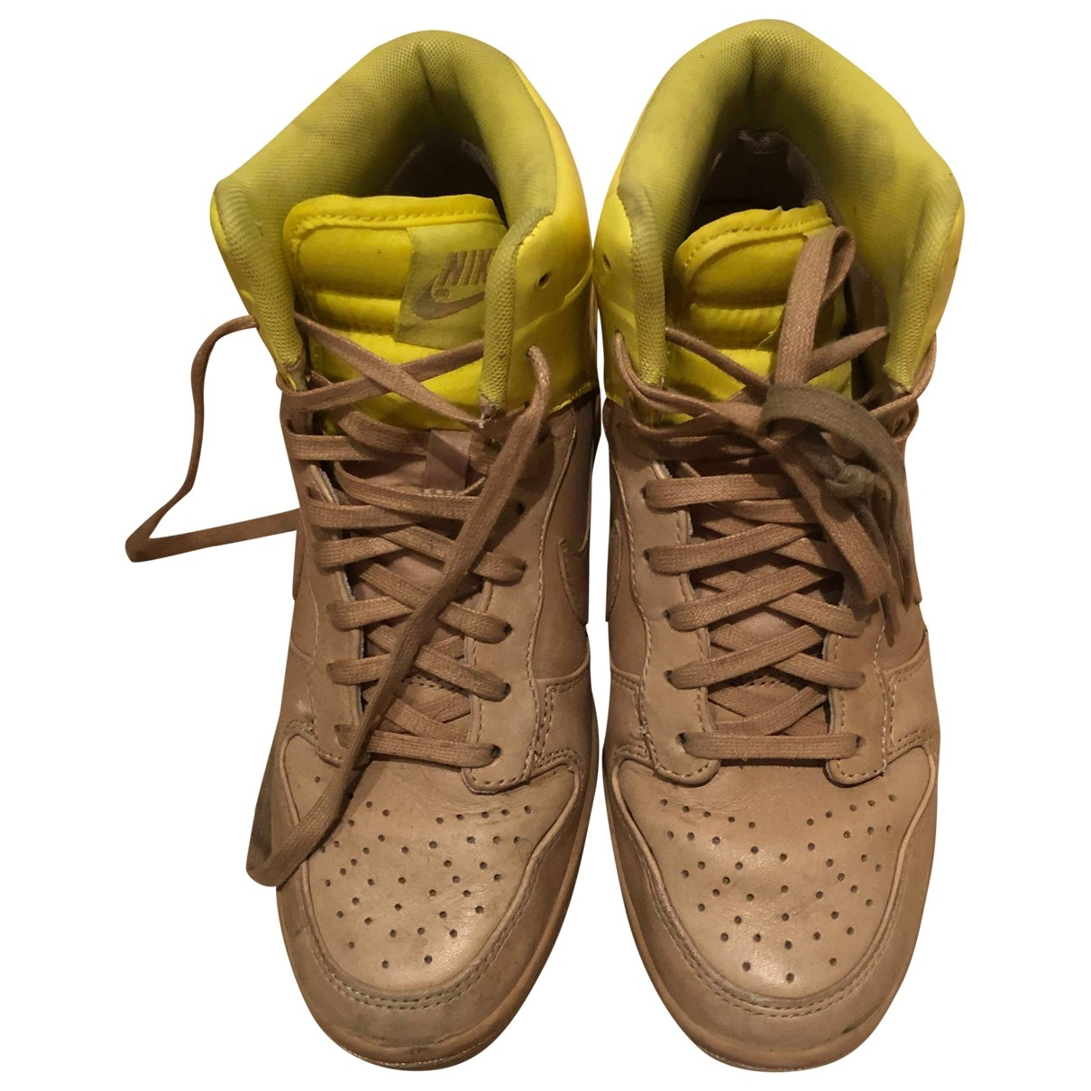 Nike Dunk Sky Beige Leather Trainers for Women 37 EU