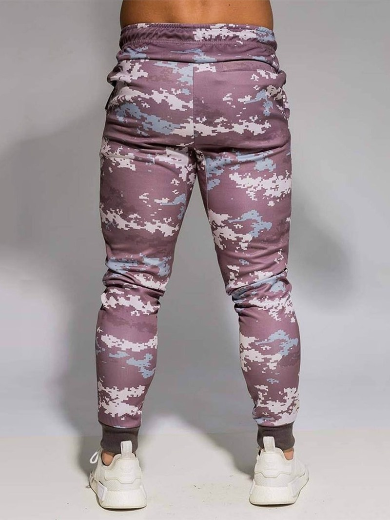 Ericdress Plaid Pocket Casual Men's Casual Pants
