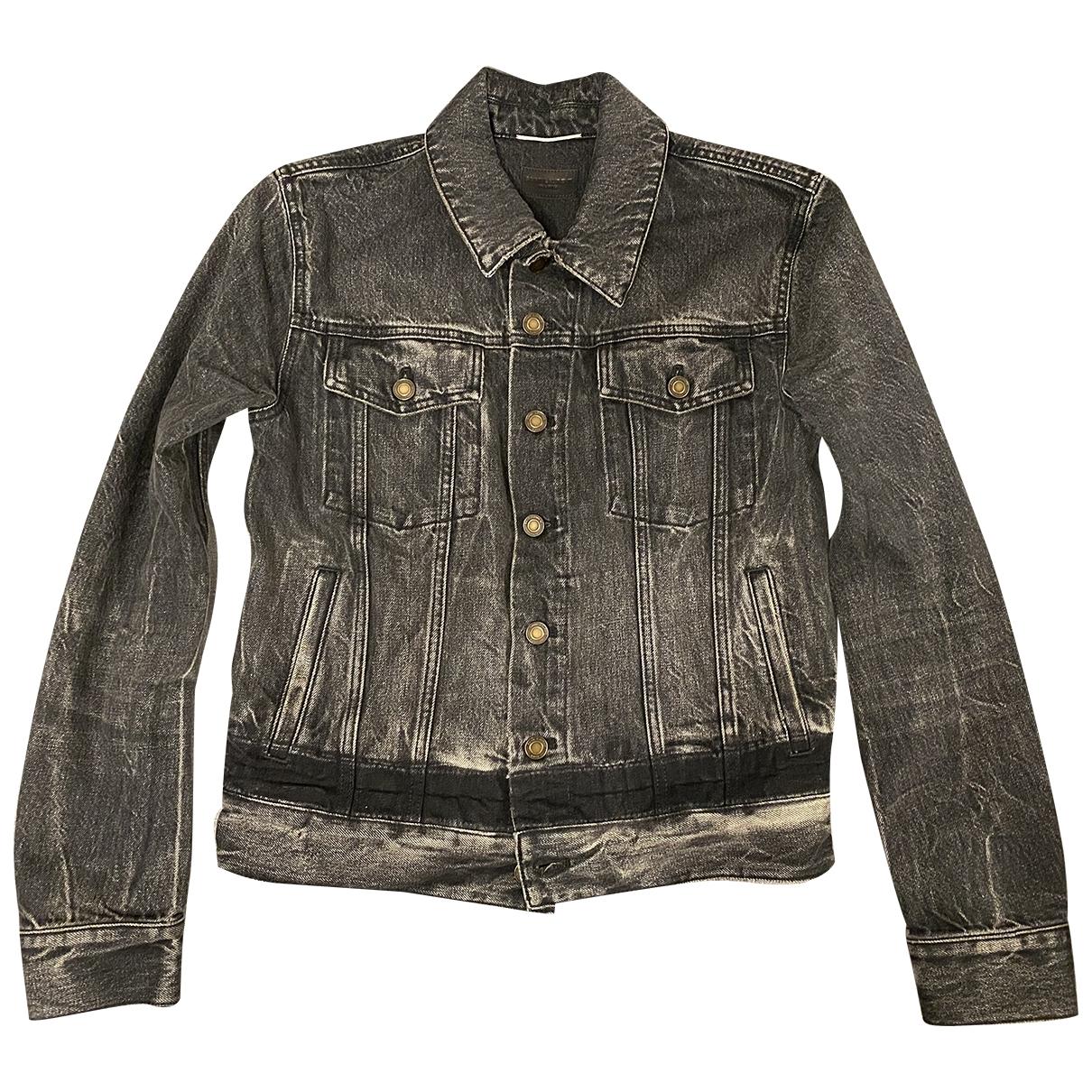 Saint Laurent \N Anthracite Denim - Jeans jacket  for Men XS International