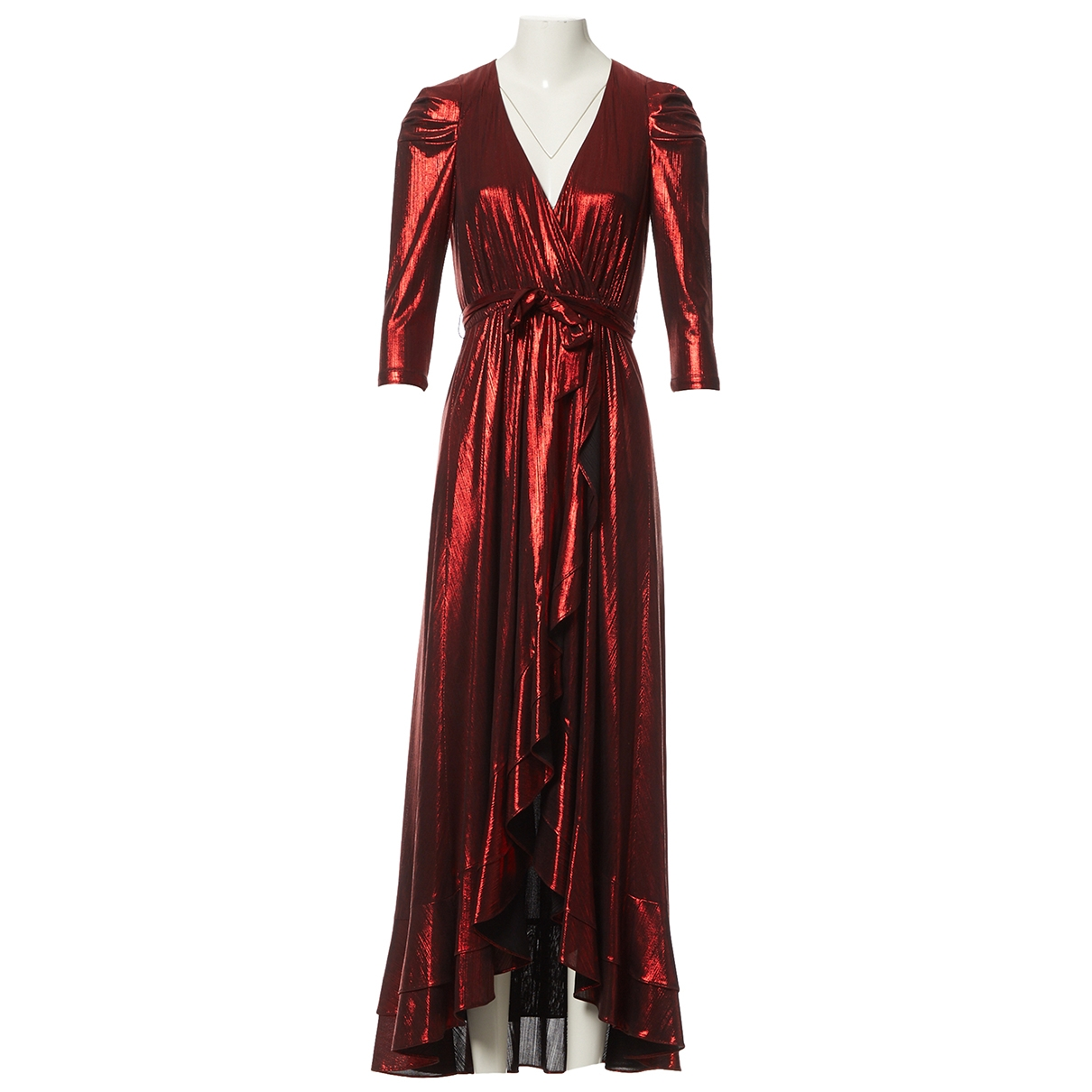 Retrofete \N Kleid in  Rot Polyester