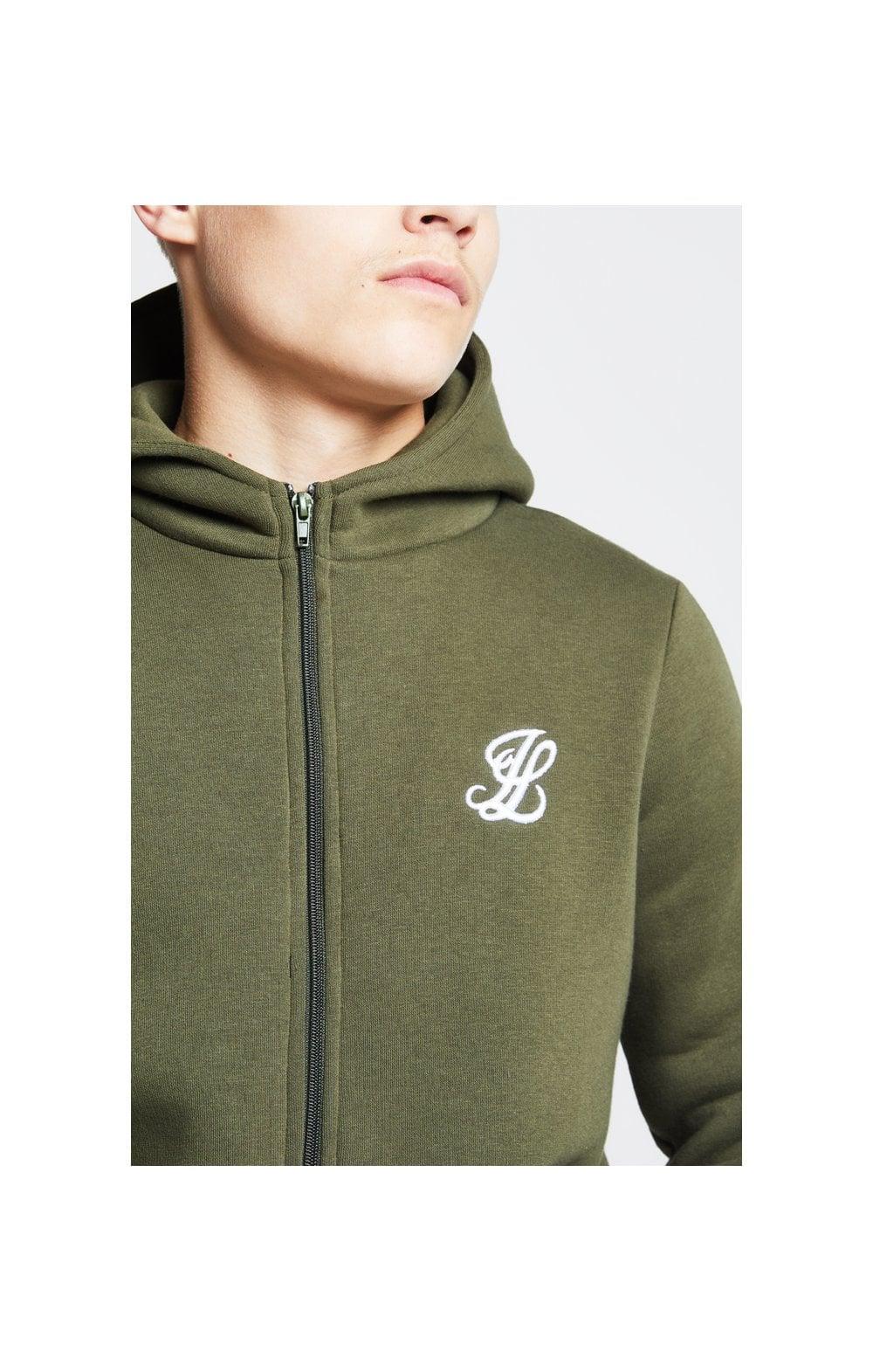 Illusive London Zip Through Hoodie - Khaki Kids Top Sizes: 15 YRS