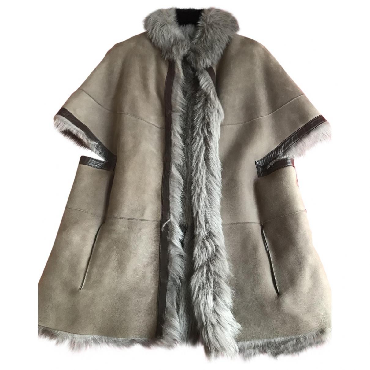 Blancha \N Beige Shearling coat for Women 40 IT
