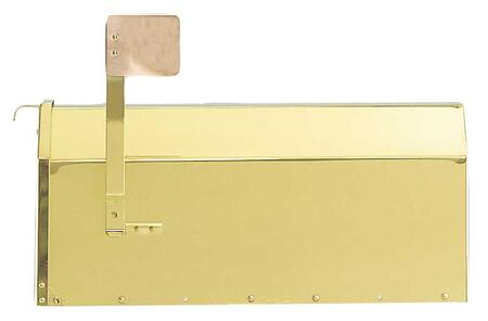 MB-1000-PB Provincial Collection Brass Mailboxes (rural) in Smooth Polished