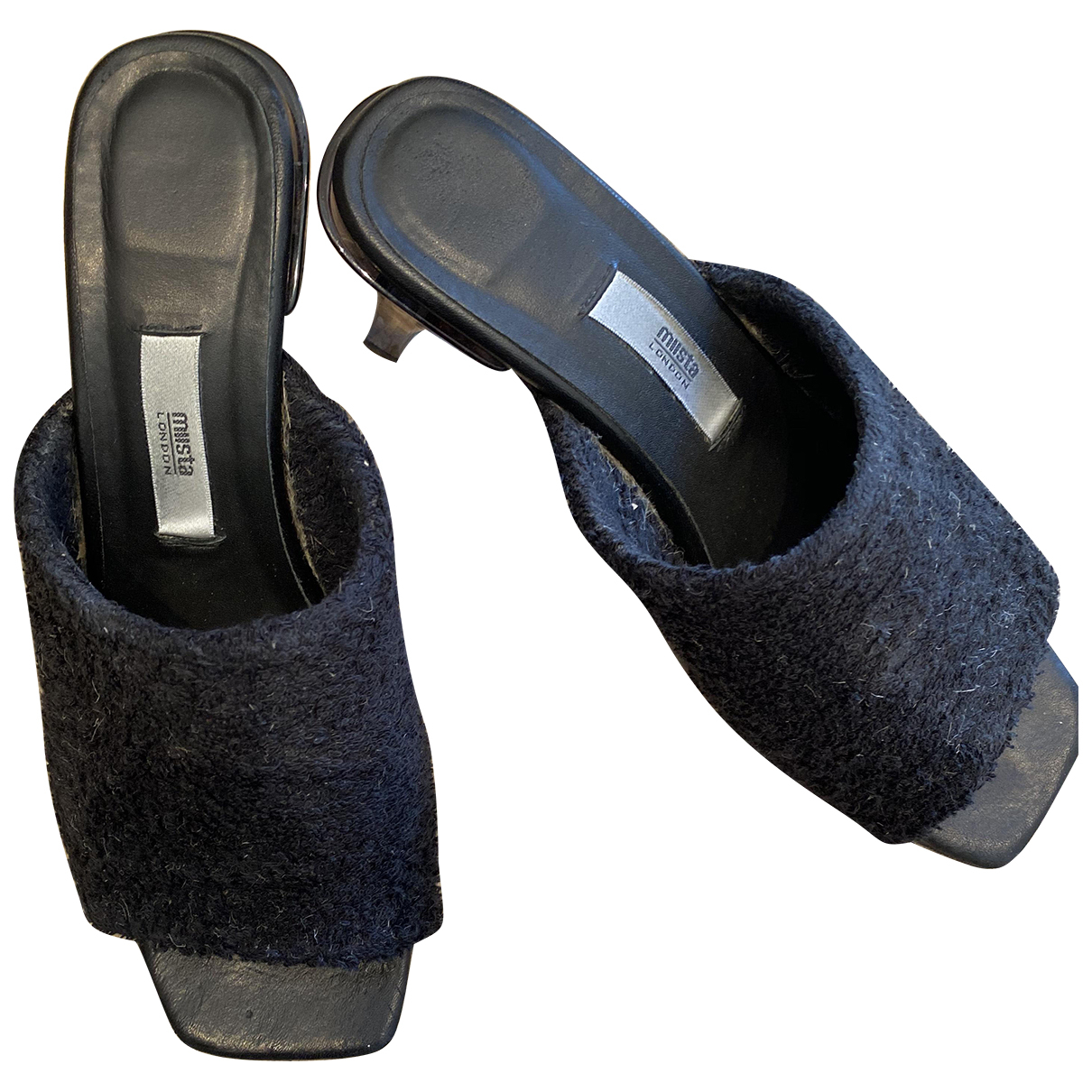 Miista \N Black Leather Heels for Women 38 EU