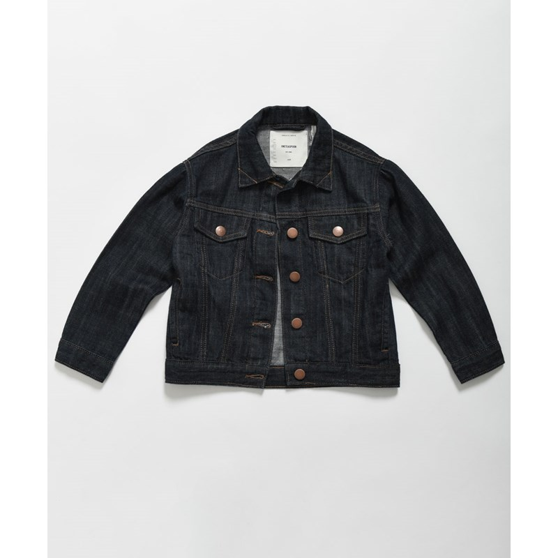 KIDS RAW INDIGO BANDIT TRUCKER JACKET