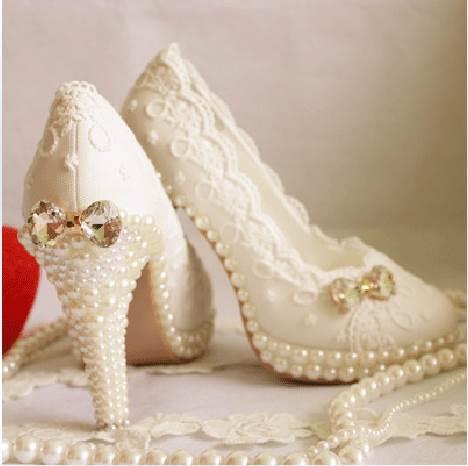 Ericdress Round Toe Stiletto Heel Wedding Shoes