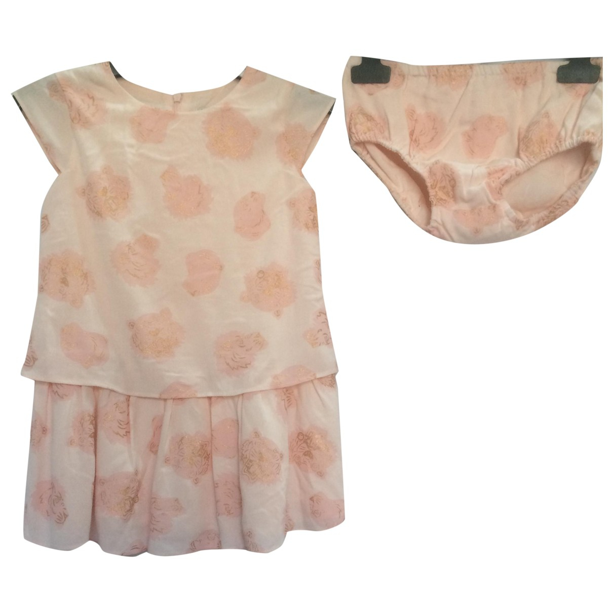 Kenzo \N Kleid in  Rosa Baumwolle