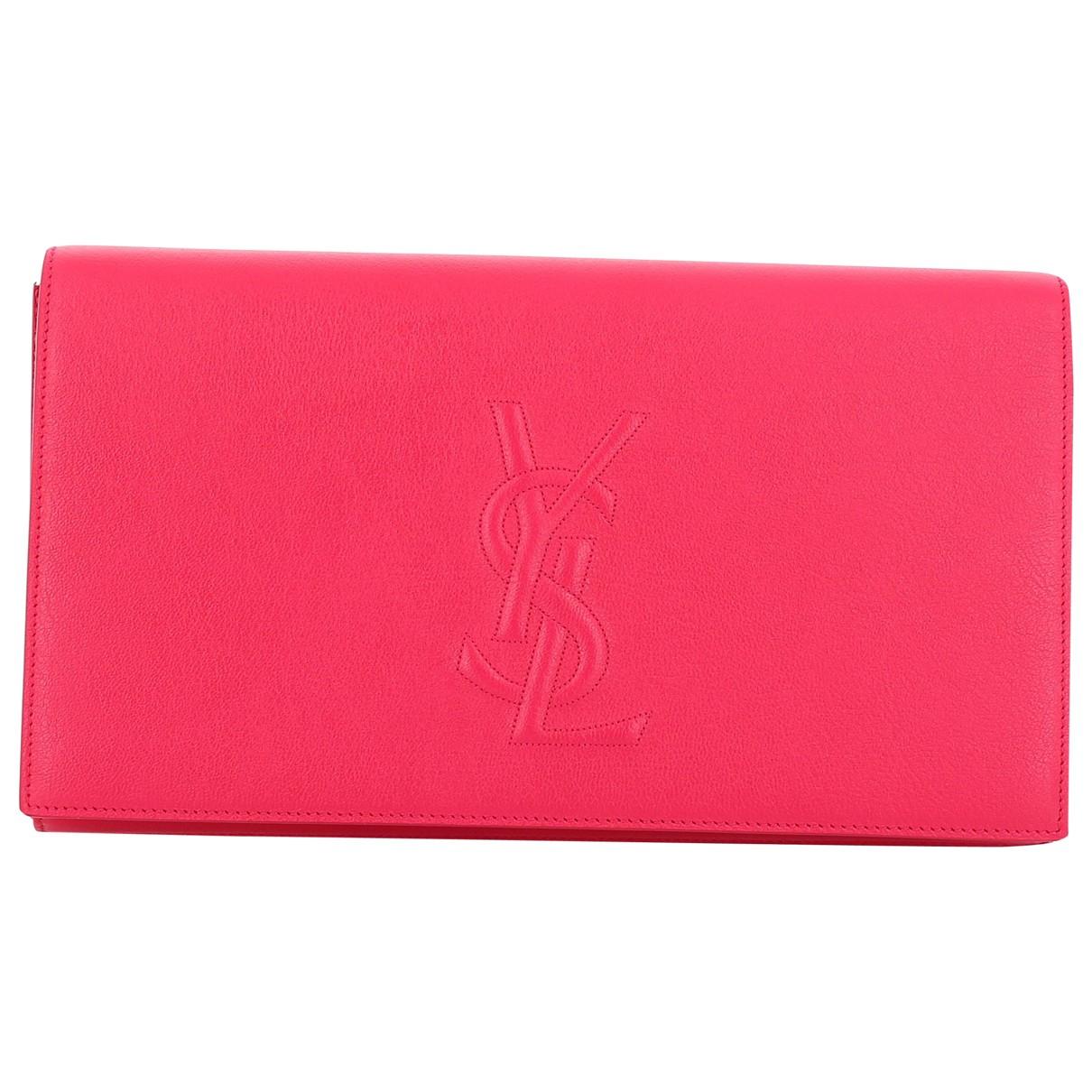 Yves Saint Laurent - Pochette Belle de Jour pour femme en cuir - rose