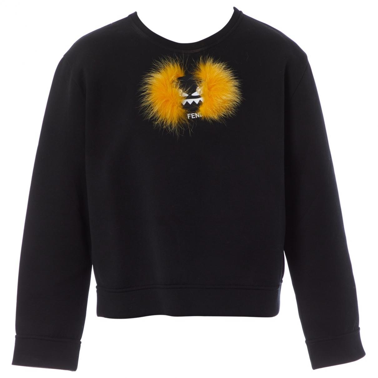 Fendi \N Black Cotton Knitwear for Women 44 IT