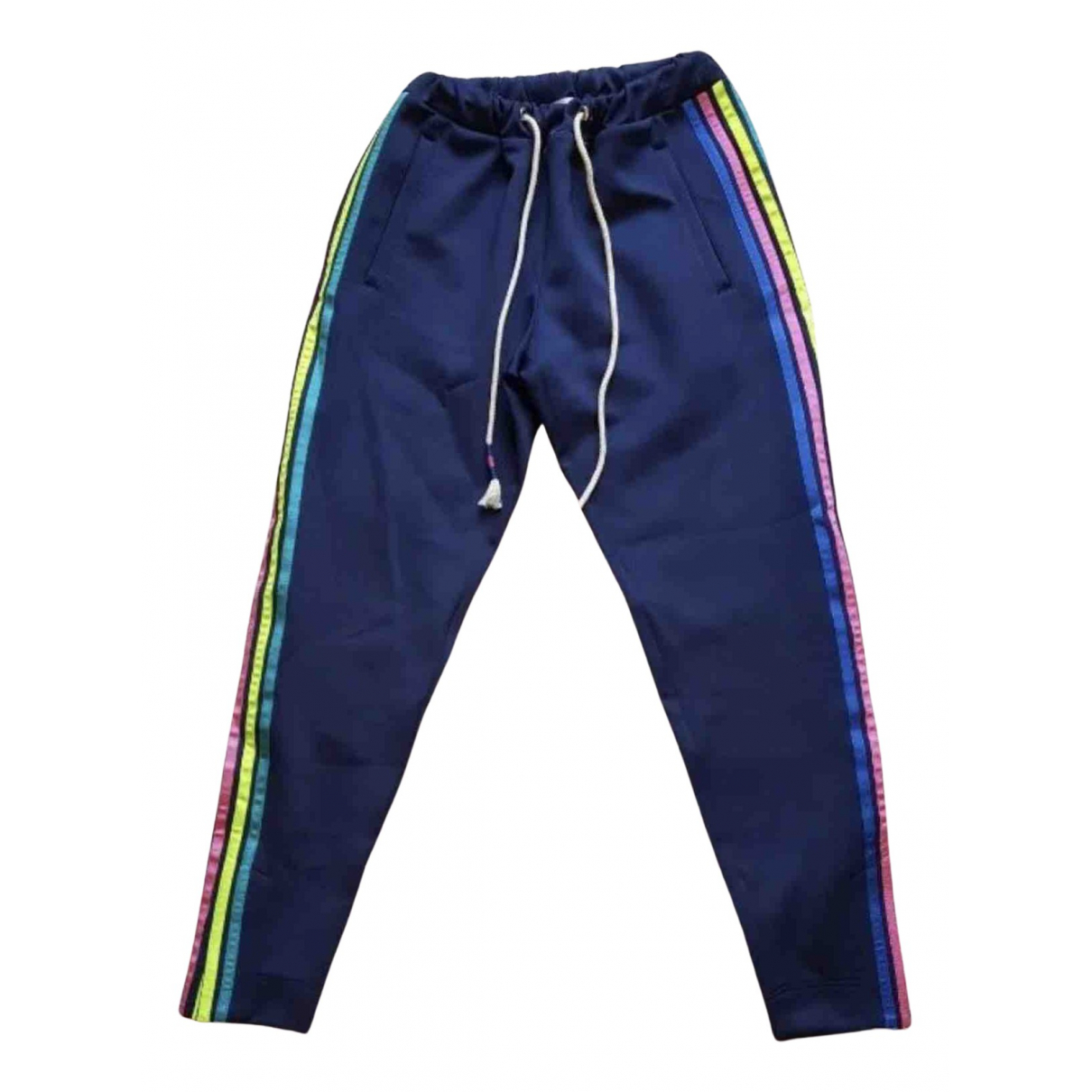 Mira Mikati N Navy Trousers for Women 34 FR