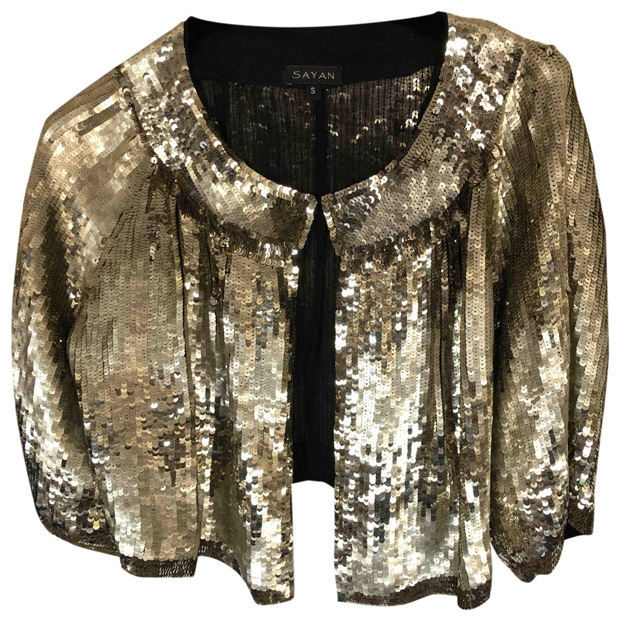 Non Signé / Unsigned \N Gold Glitter jacket for Women 40 FR