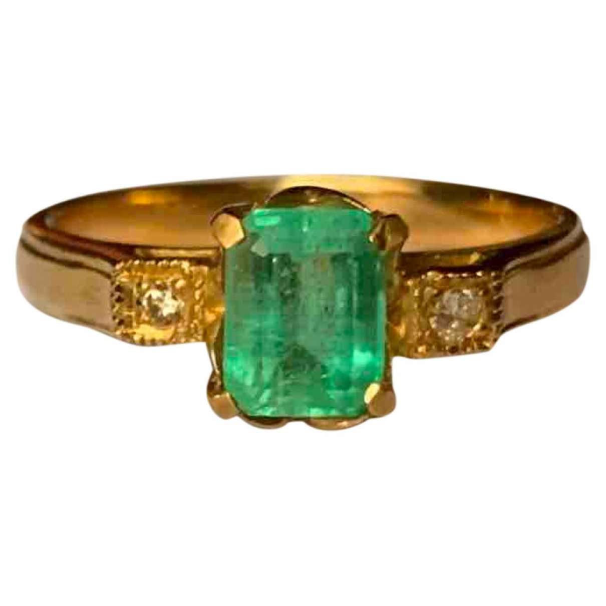 - Bague Emeraude pour femme en or rose - vert