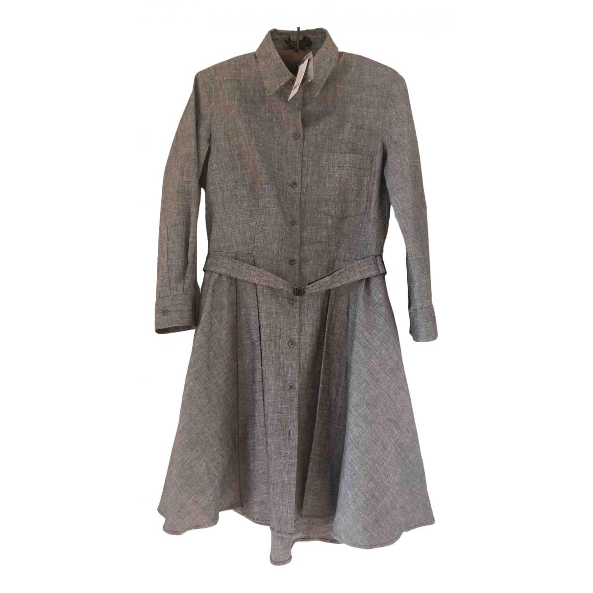 Theory \N Grey Linen dress for Women XS International