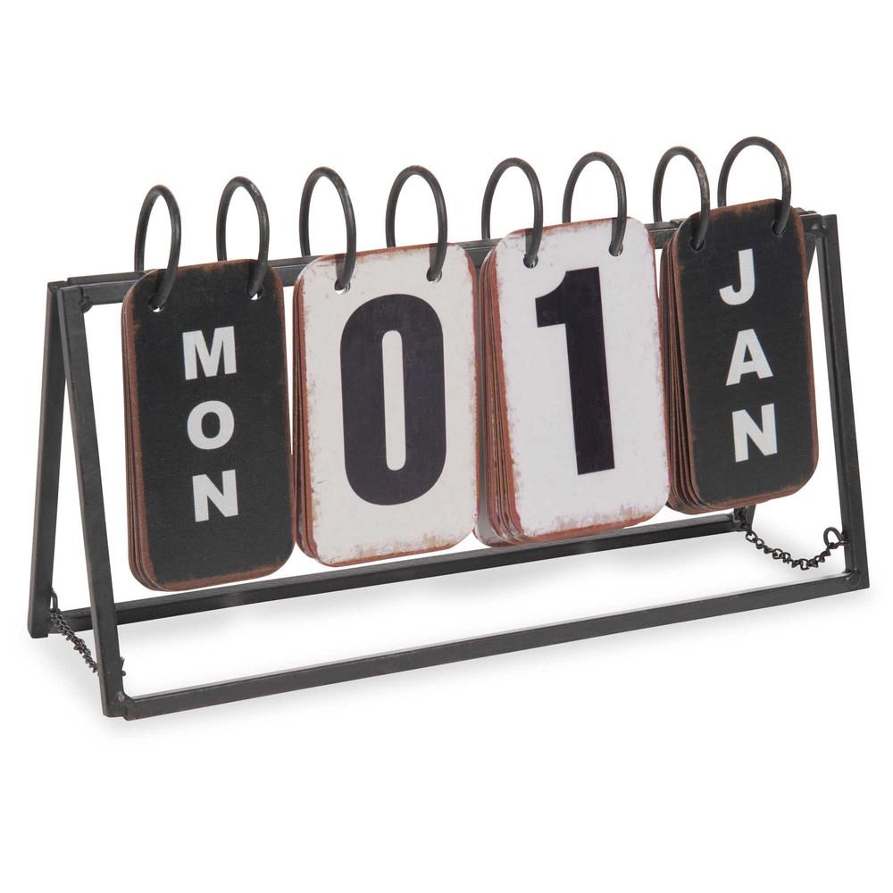 Ewiger Kalender aus Metall 16x27