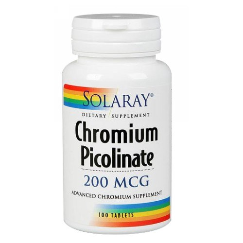 Chromium Picolinate 100 Tabs by Solaray