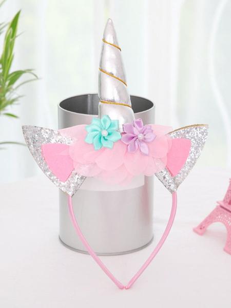 Milanoo Disfraz de niños Halloween Vestidos de unicornio Niñas volantes Disfraz de Halloween Vestido de fiesta para niños con cascos Disfraz Carnaval
