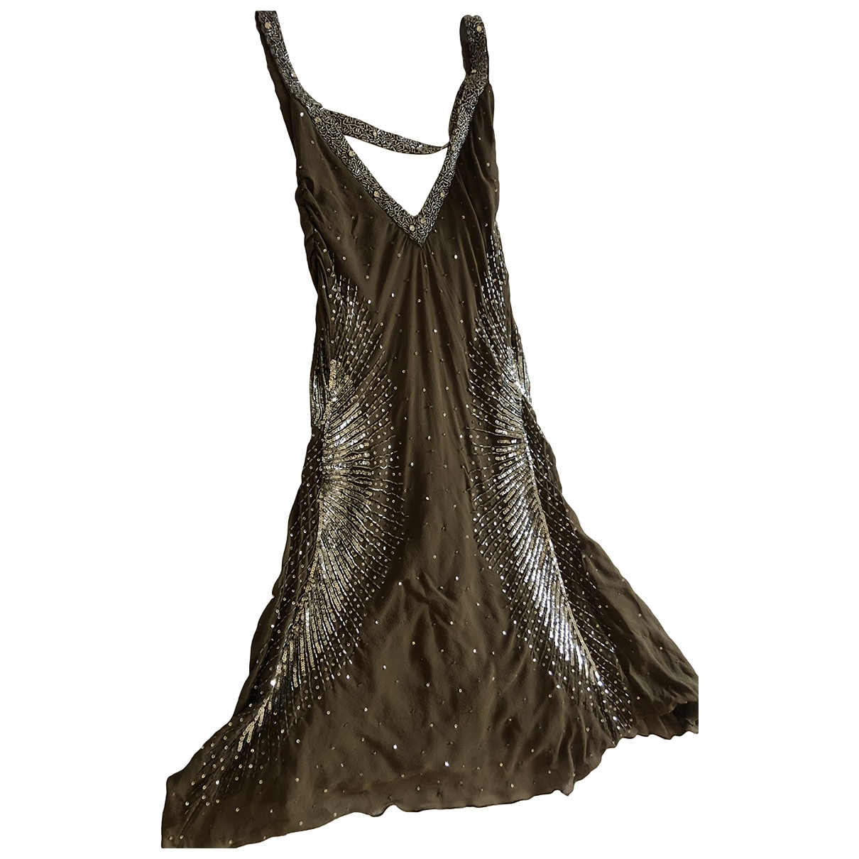 Just Cavalli \N Brown Silk dress for Women 40 IT