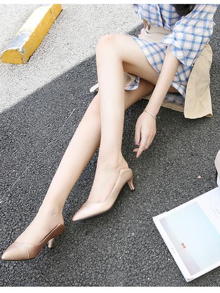 Yoins Fashion Pointed Sheer Heels