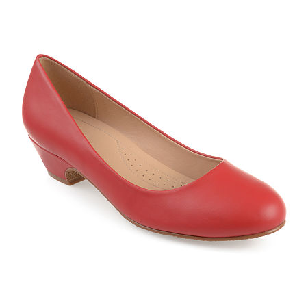 Journee Collection Womens Saar Pumps Block Heel, 8 1/2 Medium, Red