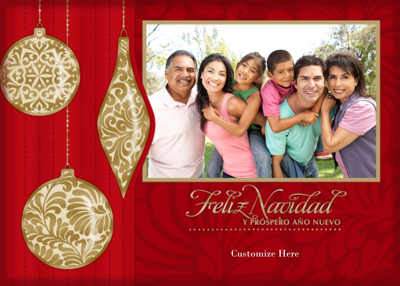 Christmas Photo Cards 5x7 Cards, Standard Cardstock 85lb, Card & Stationery -Feliz Navidad