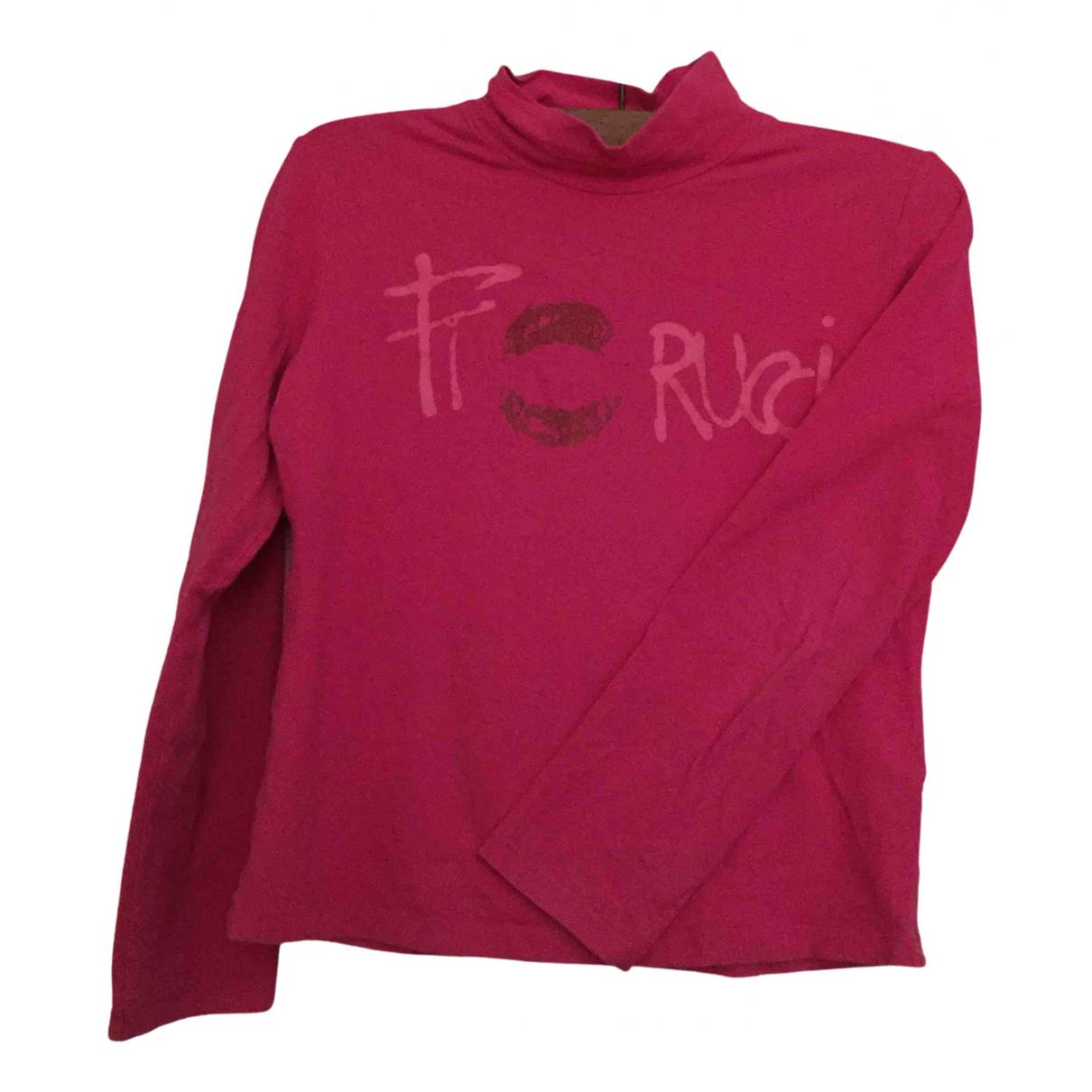 Fiorucci - Top   pour enfant en coton - rose