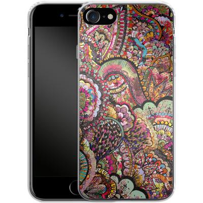 Apple iPhone 7 Silikon Handyhuelle - Her Hair Les Fleur von Bianca Green