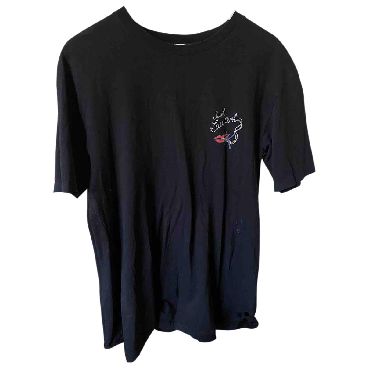 Saint Laurent - Tee shirts   pour homme en coton - noir