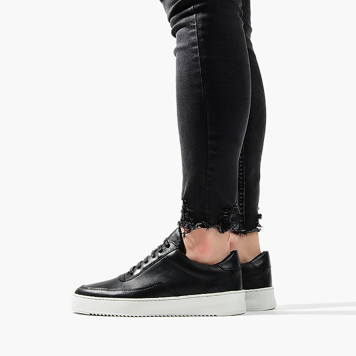 Filling Pieces Low Mondo Ripple Nardo Nappa Black 24526231861PFH