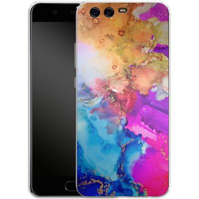 Huawei P10 Silikon Handyhuelle - Cosmic Swirl III von Stella Lightheart