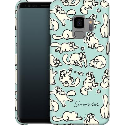 Samsung Galaxy S9 Smartphone Huelle - Simon´s Cat Green Pattern von Simons Cat