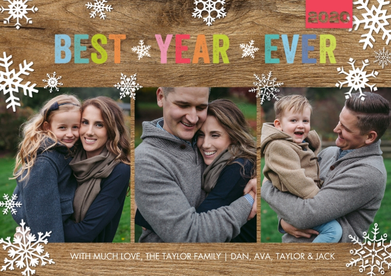 Christmas Photo Cards Flat Matte Photo Paper Cards with Envelopes, 5x7, Card & Stationery -Holiday 2020 Best Year Ever by Tumbalina