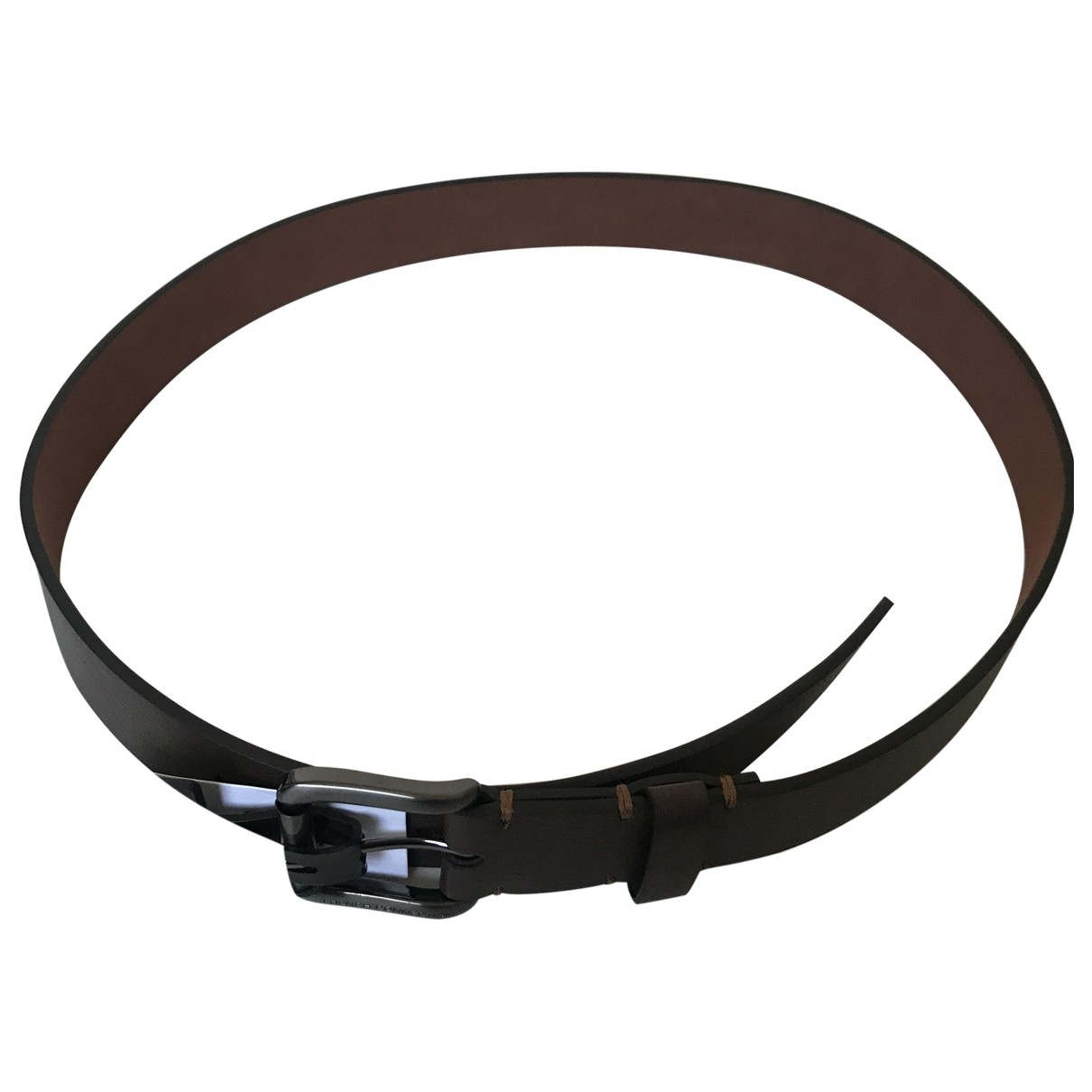French Connection \N Brown Leather belt for Men 31 Inches