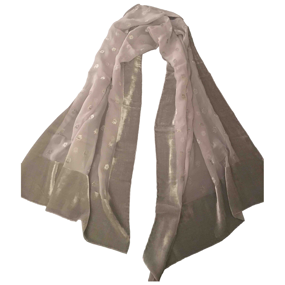 Valentino Garavani \N Grey Silk scarf for Women \N