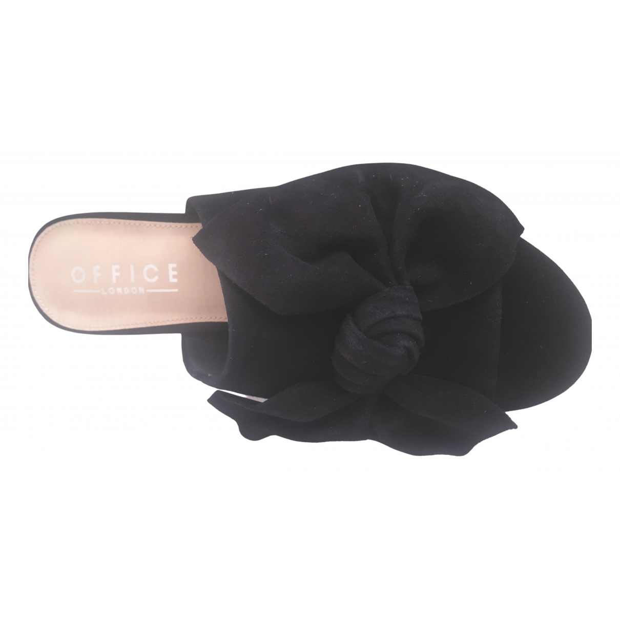 Office London \N Black Suede Mules & Clogs for Women 5 UK