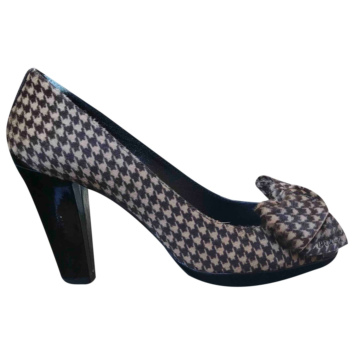 Prada \N Multicolour Faux fur Heels for Women 37 EU