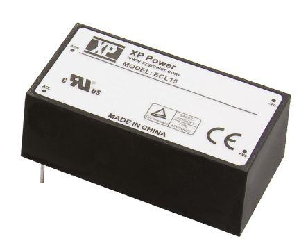 XP Power , 15W AC-DC Converter, 5 V dc, ±15 V dc, Encapsulated
