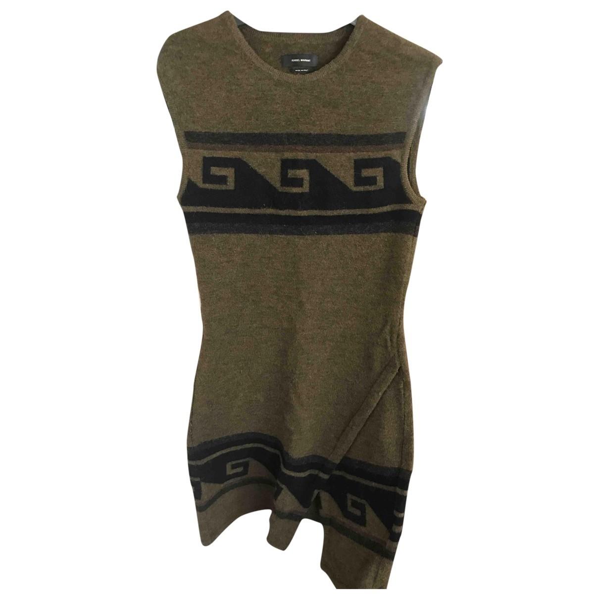 Isabel Marant - Robe   pour femme en laine - vert