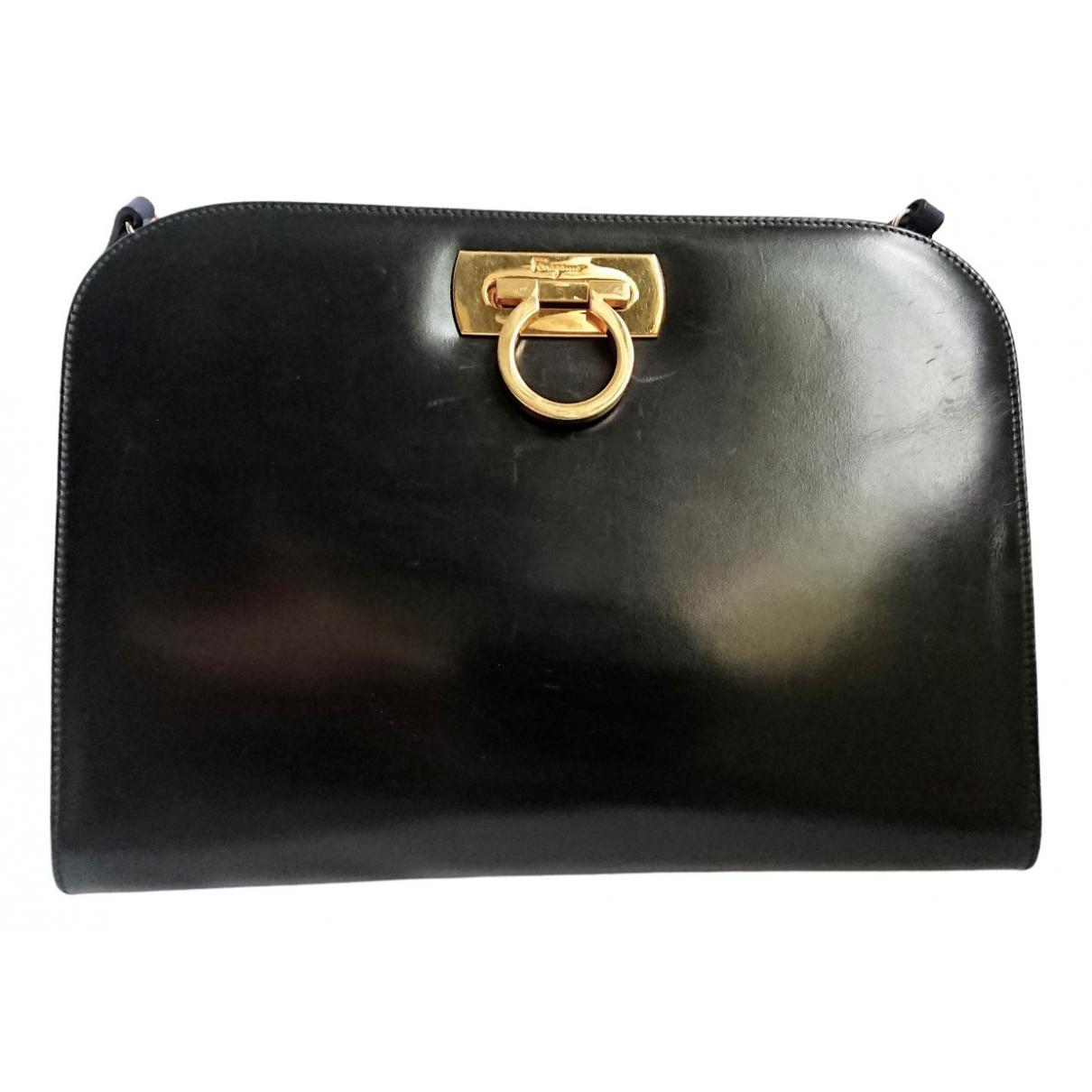 Salvatore Ferragamo \N Navy Leather handbag for Women \N
