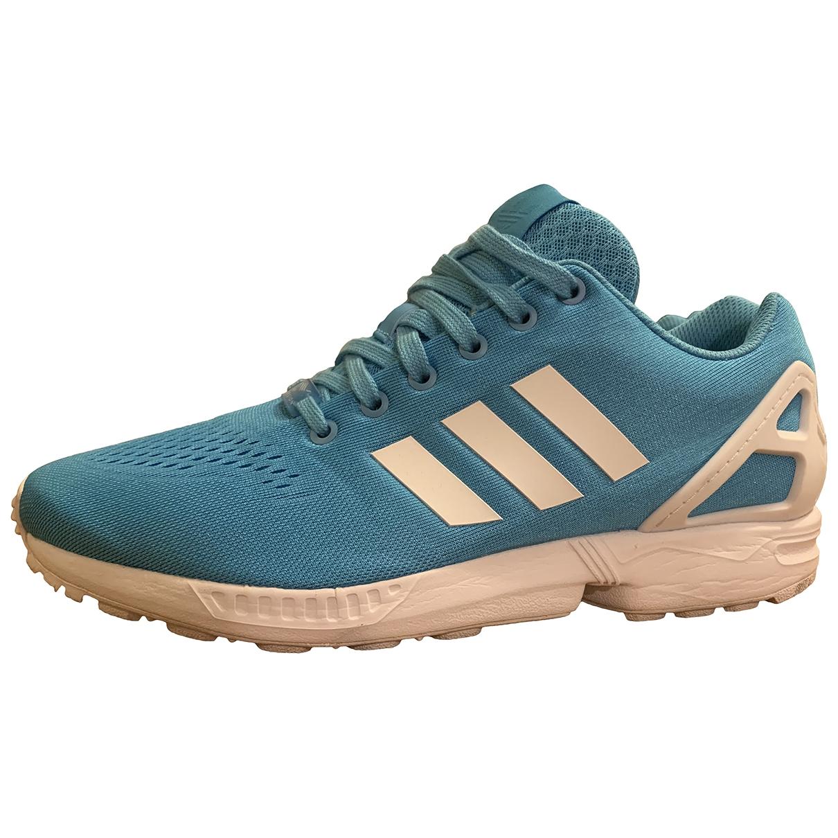 Adidas ZX Sneakers in  Blau Leinen